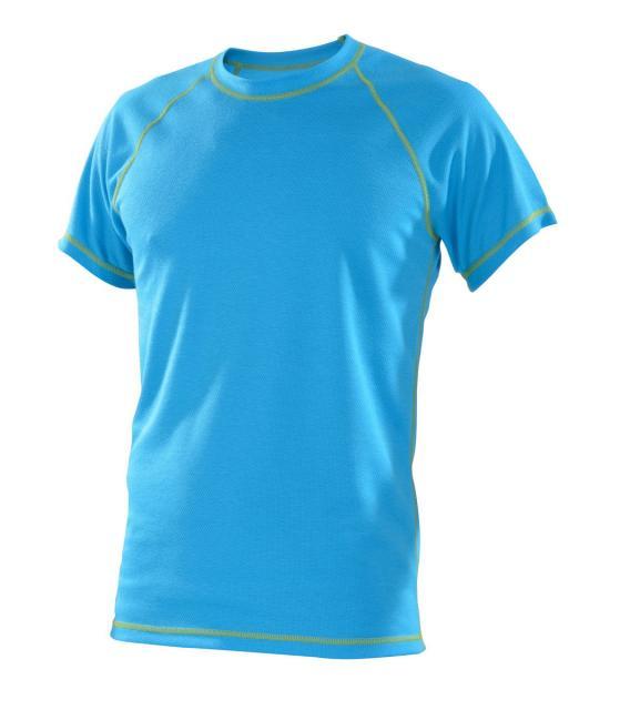 Pánské tričko krátký rukáv Coolbest - tyrkys