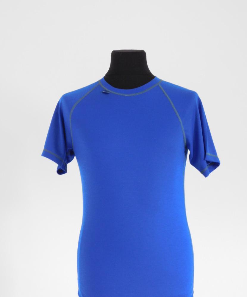 Pánské tričko krátký rukáv Coolbest - středně modrá