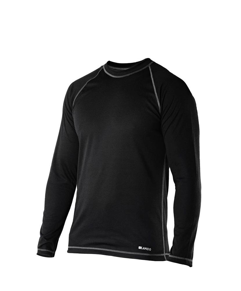 Pánské tričko dlouhý rukáv Coolbest - černá