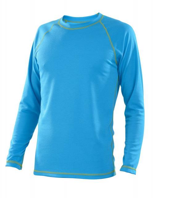 Pánské tričko dlouhý rukáv Coolbest - tyrkys