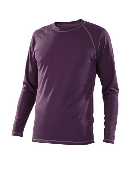 Pánské tričko dlouhý rukáv Coolbest - fialová