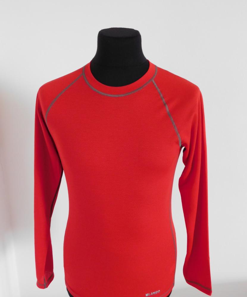 Pánské tričko dlouhý rukáv Coolbest - červená