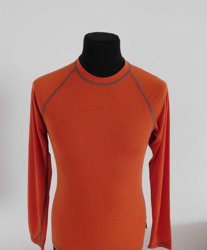 Pánské tričko dlouhý rukáv Coolbest - cihlová