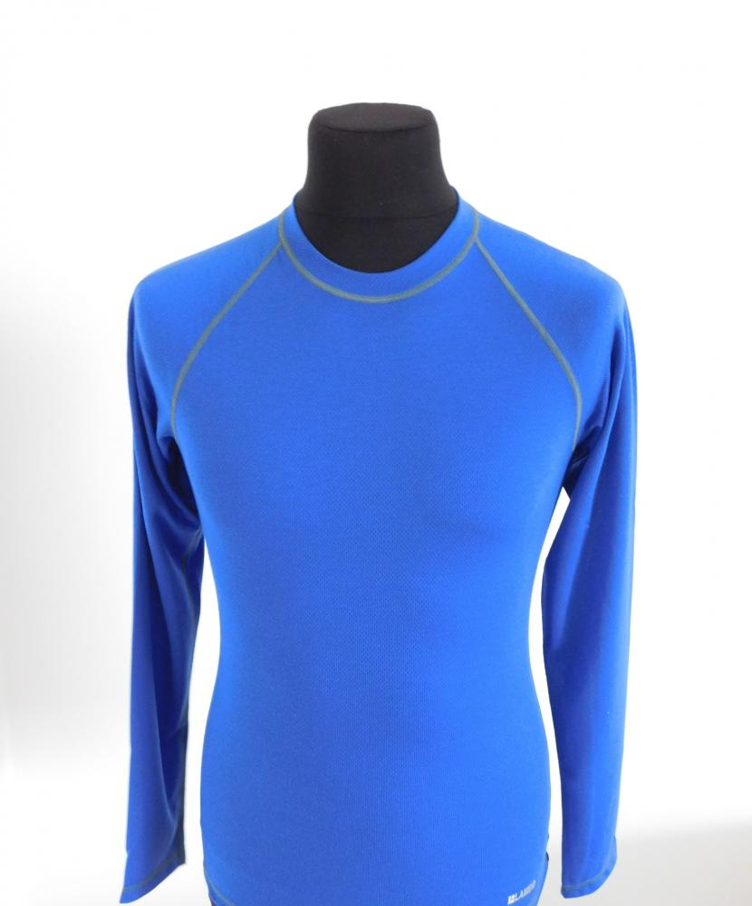 Pánské tričko dlouhý rukáv Coolbest - středně modrá