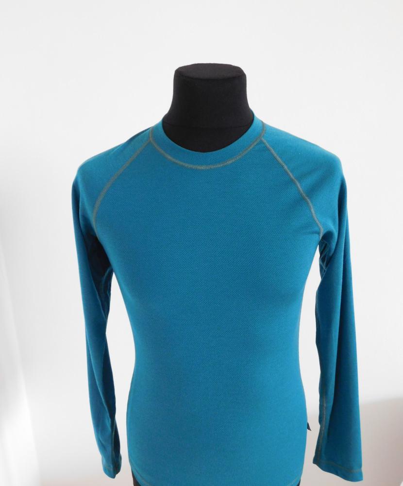 Pánské tričko dlouhý rukáv Coolbest - tmavě zelená