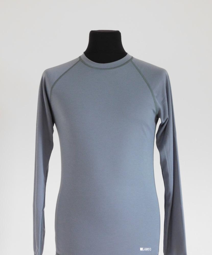 Pánské tričko dlouhý rukáv Coolbest - šedá cff3c4f2fe