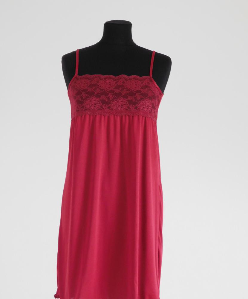 Dámská noční košile Lucka - griotka-jednobarevná krajka