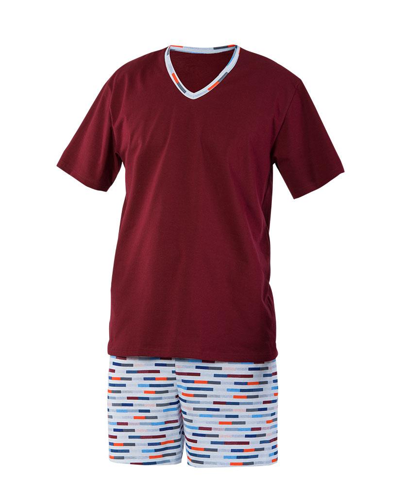 Pánské pyžamo Vašek - barevný proužek