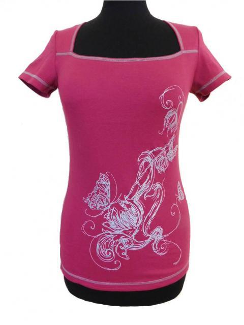 Dámské tričko Marie - vínová