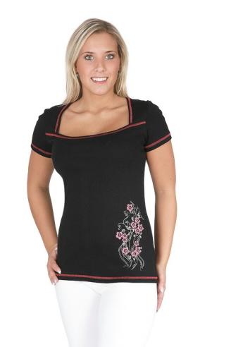 Dámské tričko Marie - černá