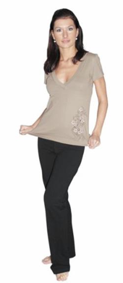 Dámské tričko Lada - béžová