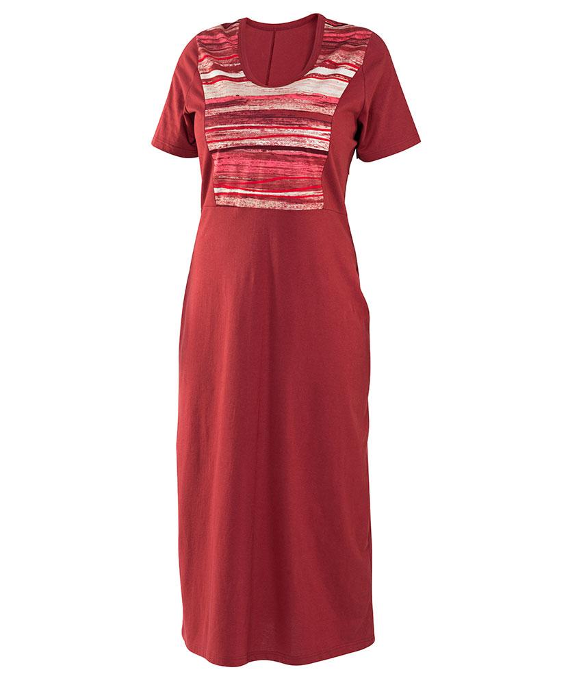 Dámské šaty Aneta - vínový dekor