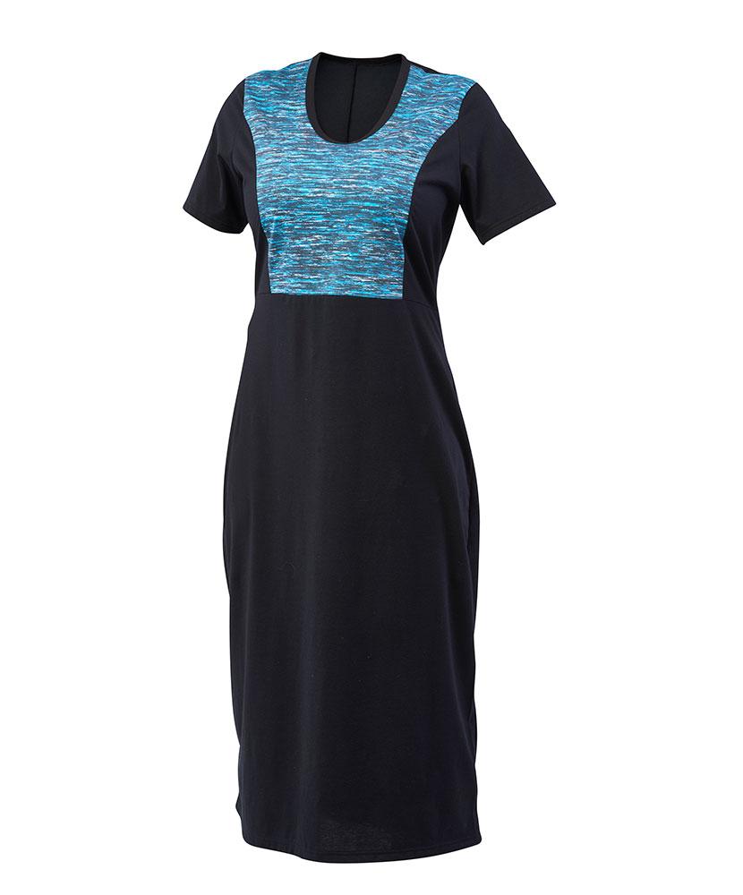 Dámské šaty Aneta - tyrkysový tisk