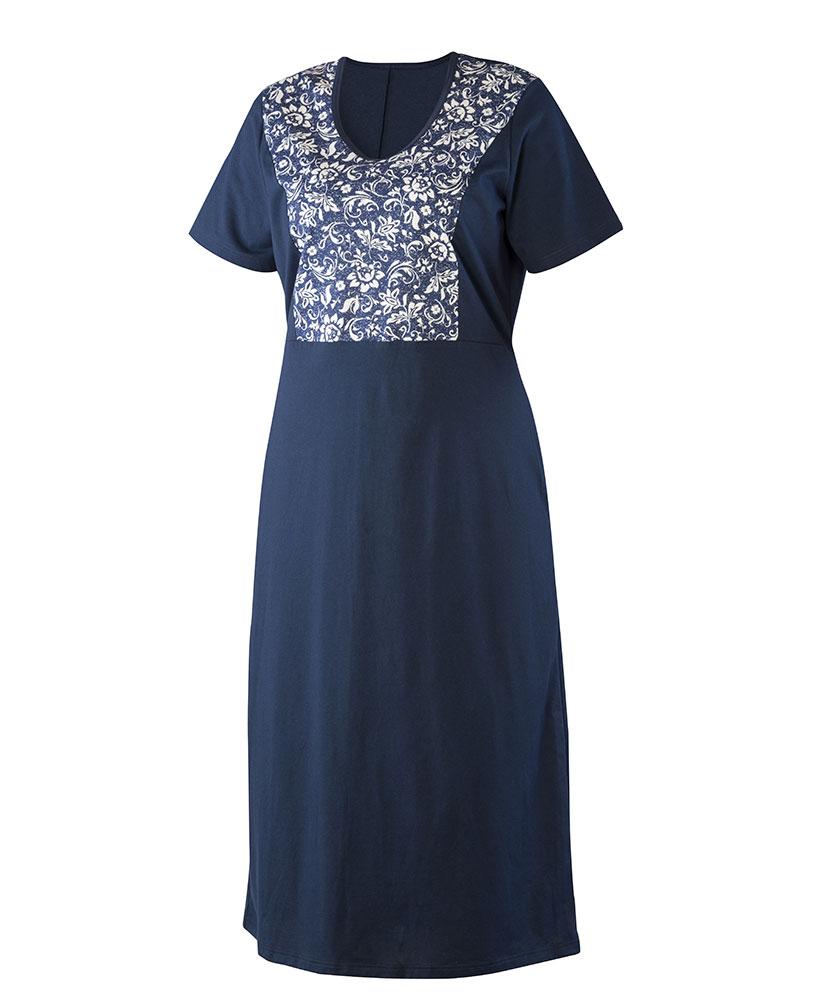 Dámské šaty Aneta - tmavě modrý květ