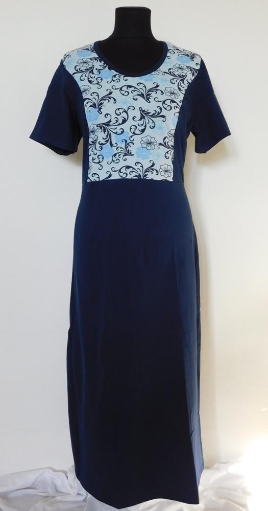 Dámské šaty Aneta - světle modrá s tmavým tiskem
