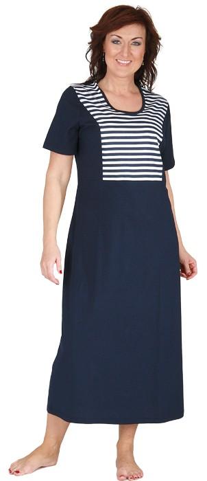 Dámské šaty Aneta - modrobílý proužek