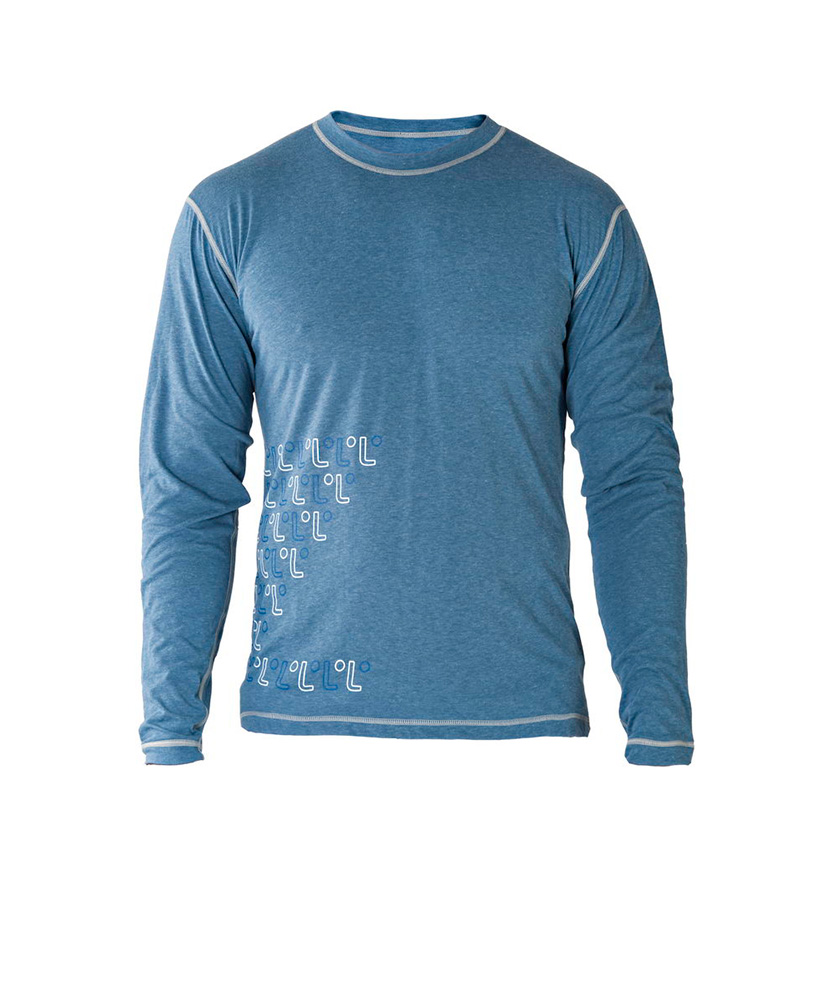 Pánské tričko dlouhý rukáv Freshguard - modrá-logo