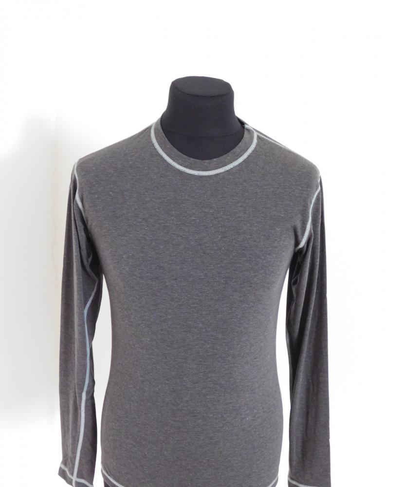 Pánské tričko dlouhý rukáv Freshguard - šedá-bez loga