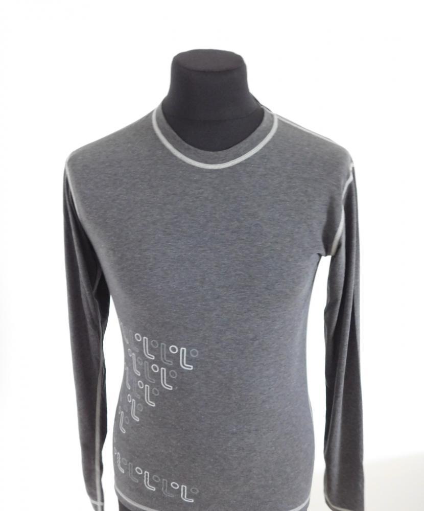 Pánské tričko dlouhý rukáv Freshguard - šedá-logo