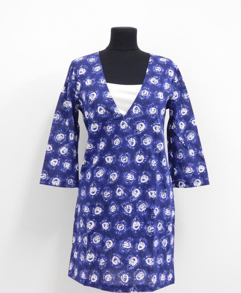 Dámské šaty Iveta - tmavě modrá- beránek