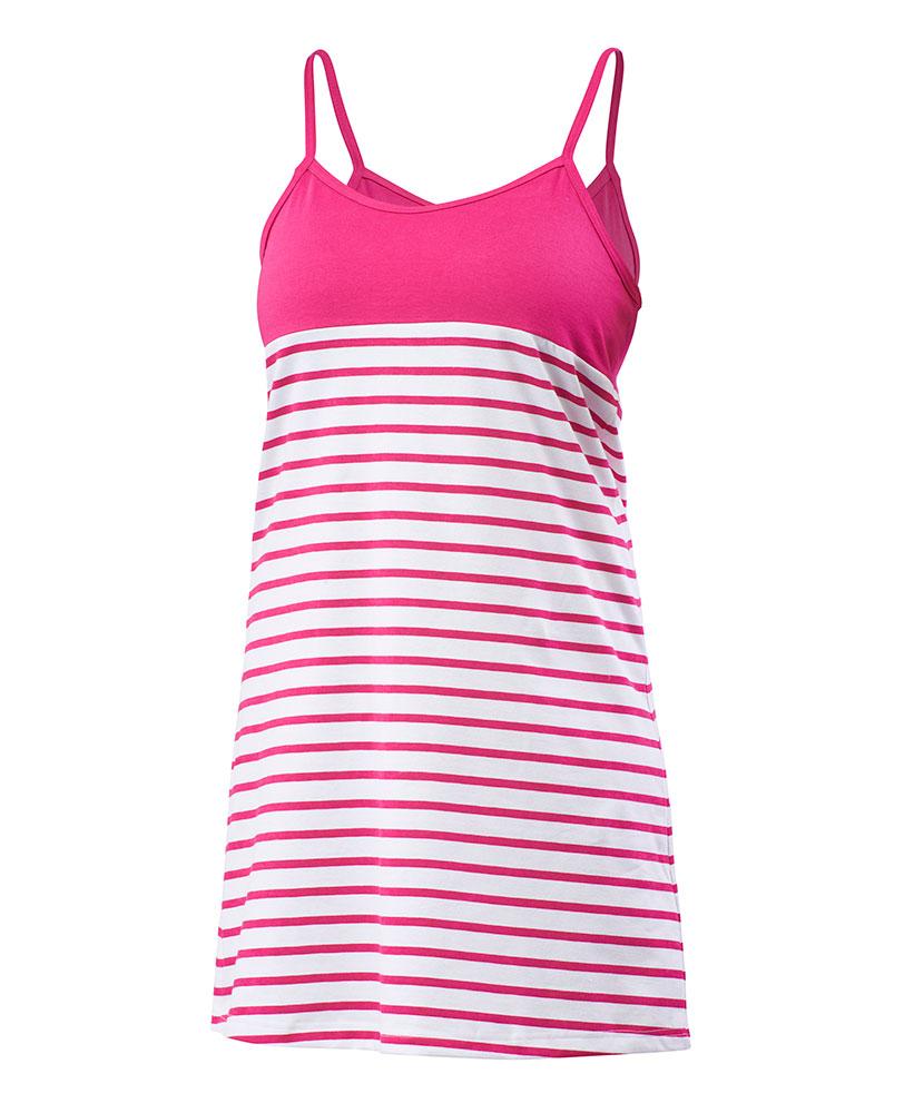 Dámské šaty Janča - růžový proužek