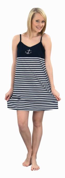 Dámské šaty Janča - modro-bílý pruh