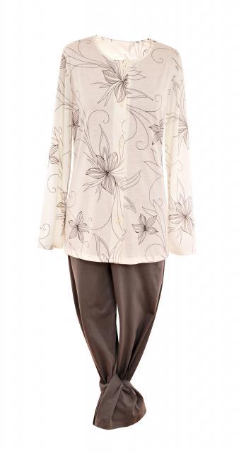 Dámské pyžamo Agáta - šedá lilie