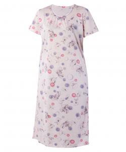 Dámská noční košile Líba K růžový tisk