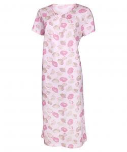 Dámská noční košile Líba K růžovo-béžový květ