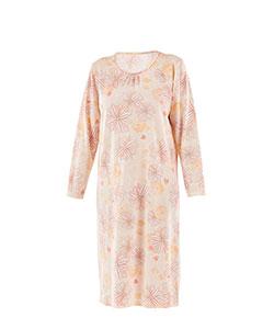 Dámská noční košile Líba D oranžovožlutý květ