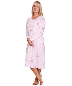 Dámská noční košile Líba D růžové bobulky