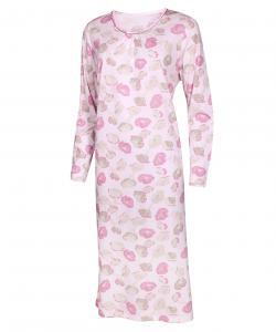 Dámská noční košile Líba D růžovo-béžový květ