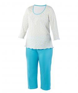 Dámské pyžamo Danuše modrozelený trojúhelník