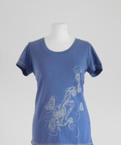 Dámské tričko Romana šedomodrá