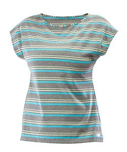 Dámské tričko Dara šedý proužek