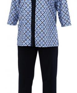 Dámský domácí oblek Doly tmavě modrý tisk