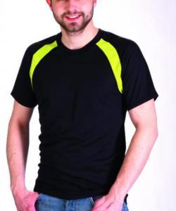 Pánské tričko krátký rukáv černá
