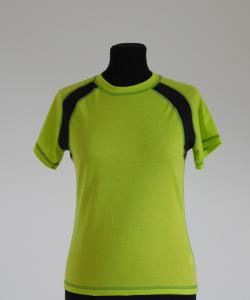 Dámské tričko krátký rukáv světle zelená
