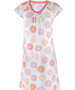Dámská noční košile Ela meruňkové korále