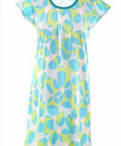 Dámská noční košile Ela modrozelený ovál