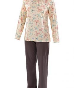 Dámské pyžamo Libuše D meruňkový tisk