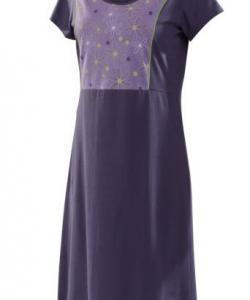 Dámské šaty Berta D fialovo-zelený tisk