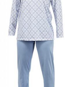 Dámské pyžamo Klárka světle modrá kostka