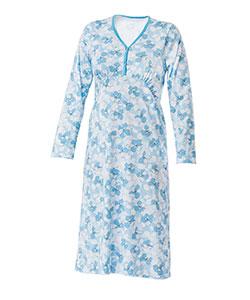 Dámská noční košile Nikolka D modrobílý tisk