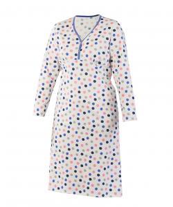 Dámská noční košile Nikolka D modrý puntík