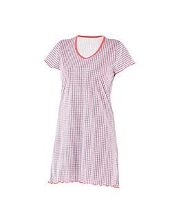 Dámská noční košile Klára červenomodrá kostička