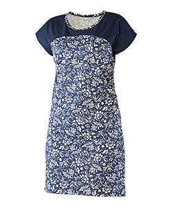 Dámské šaty Ina tmavě modrý květ