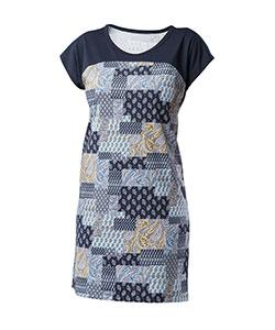 Dámské šaty Ina tmavě modrý dekor