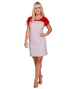 Dámské šaty Ina drobný trojúhelník červený