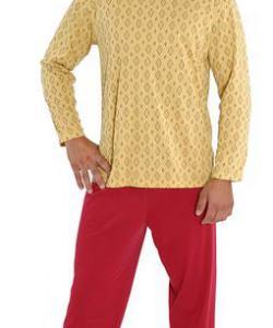Pánské pyžamo Emil okrová